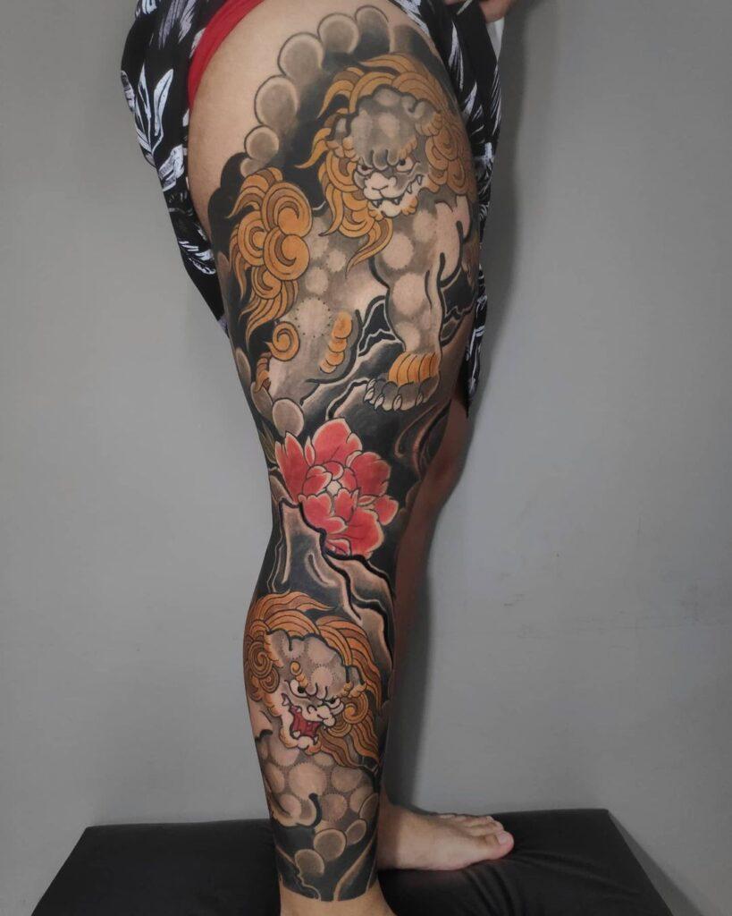 Tatuagem oriental masculina, tatuagem masculina